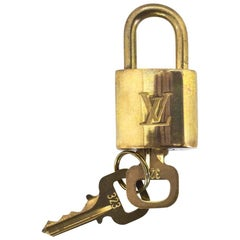 Louis Vuitton Goldtone Lock & Keys #323