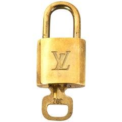 Louis Vuitton Goldtone Lock & Key #302