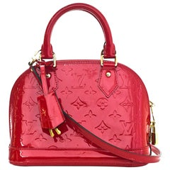 Louis Vuitton Red Patent Leather Monogram Vernis Alma BB Crossbody Bag
