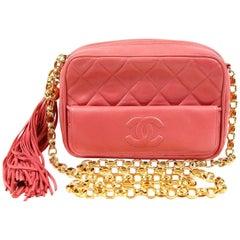 Chanel Pink Leather Vintage Camera Bag