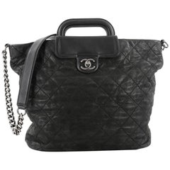 Chanel In The Mix Shopping Tote Quilted Iridescent Calfskin XL