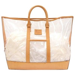 Vintage Louis Vuitton Isaac Mizrahi Clear Vinyl x Leather Limited Tote Bag