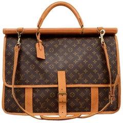 Vintage Louis Vuitton Sac Chasse Monogram Canvas Travel Bag + Strap