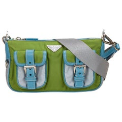 Prada Blue Nylon Shoulder Bag