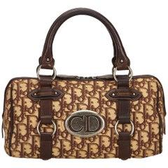 Dior Brown Jacquard Diorissimo Handbag