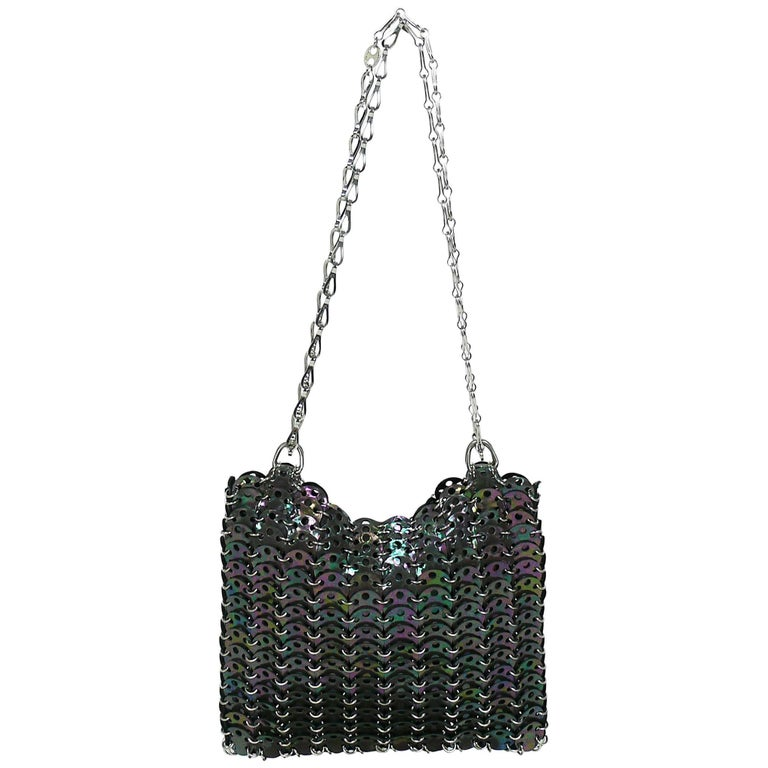 Paco Rabanne Iridescent Leather Chainmail Shoulder Bag
