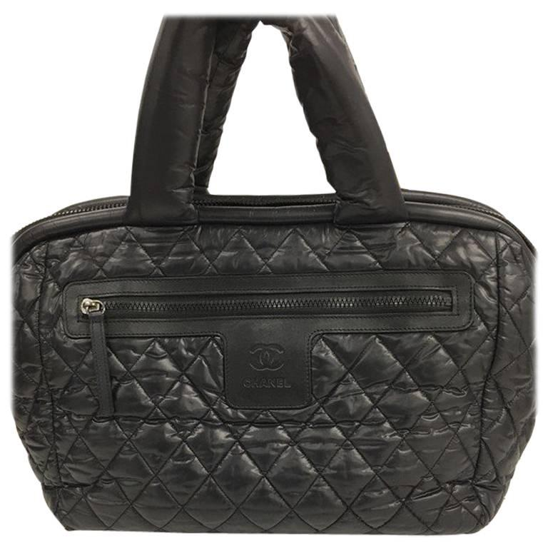 021a9ef77802 Chanel Coco Cocoon Bowling Bag Quilted Nylon at 1stdibs