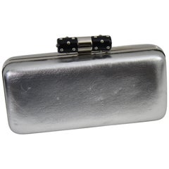 Nice Yves Saint Laurent Silver Evening Clutch