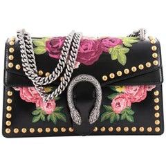 Gucci Dionysus Handbag Embroidered Studded Leather Small