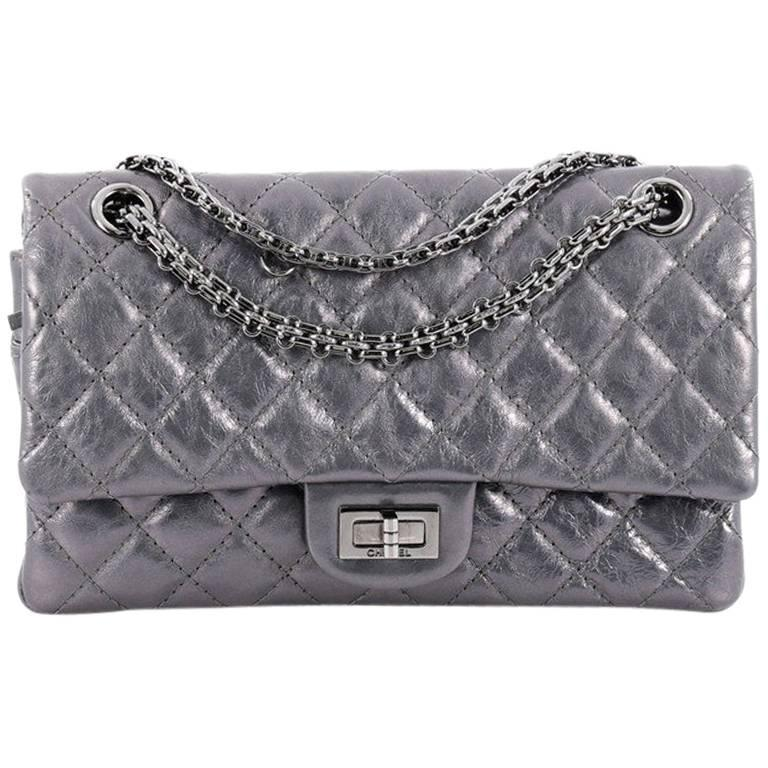 4c8eb0a4c467f0 Chanel Reissue 2.55 Handbag Quilted Metallic Calfskin 226 at 1stdibs