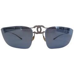authentic titanium foldable chanel sunglasses