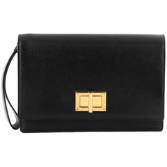 Tom Ford Turnlock Flap Wristlet Leather