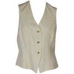 Ivory Céline Button-Front Vest