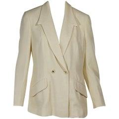 Ivory Céline Textured Blazer