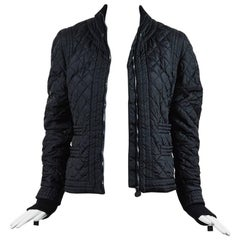 Chanel Identification 05A Black Quilted Nylon Long Sleeve Puffer Jacket SZ 42