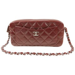 Chanel Burgundy Leather Pocket Camera Bag
