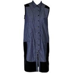 Blue & Black Proenza Schouler Chambray Shirtdress