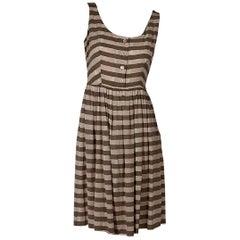 Pink & Brown Prada Striped Dress