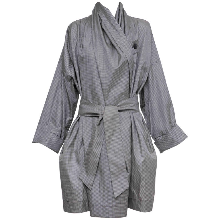 Issey Miyake Houndstooth Trench Coat Metropolitan of Art Collection, Circa 1985