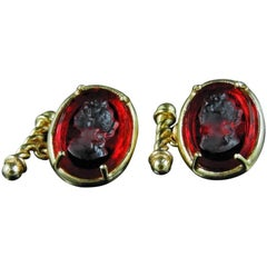 bronze and engraved Murano glass cufflinks by Patrizia Daliana
