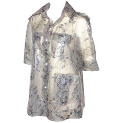 VERY RARE AND COLLECTIBLE Chanel Waterprofoof Jacket Camélia Printed
