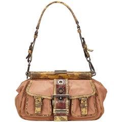 Prada Brown Nylon Shoulder Bag