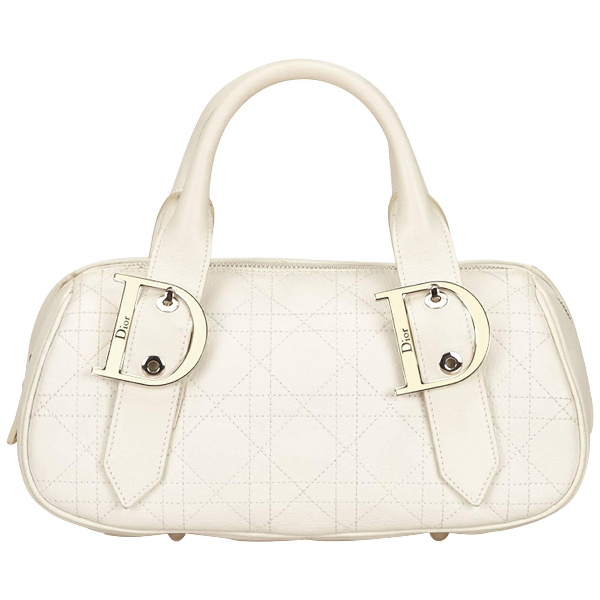 Dior White Gambler Cubes Bag JRoVUA