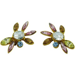 Christian Lacroix Vintage Jewelled Clip-On Earrings