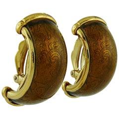 Yves Saint Laurent YSL Vintage Massive Acanthus Clip-On Earrings