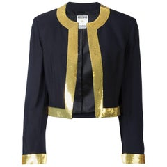 80's MOSCHINO Couture Sequin trim jacket