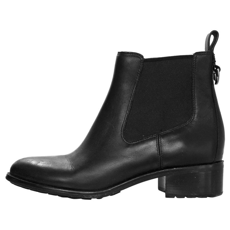cole haan black leather ankle boots sz 8 with box for sale