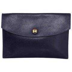 Hermes Vintage Navy Epsom Leather Rio Clutch Bag