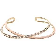 Nina Ricci Goldtone Pink Stingray & Crystal Collar Necklace rt. $1,250