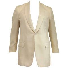 Men's Hickey Freeman Wool & Silk Unstructured Dinner Jacket Sz 42L