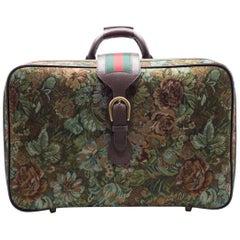 Gucci Men's Floral Printed GG Supreme Suitcase