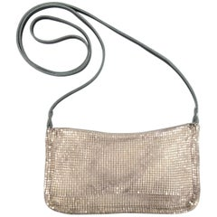ISABEL MARANT Silver Metal Chainmail Mesh Mini Shoulder Bag