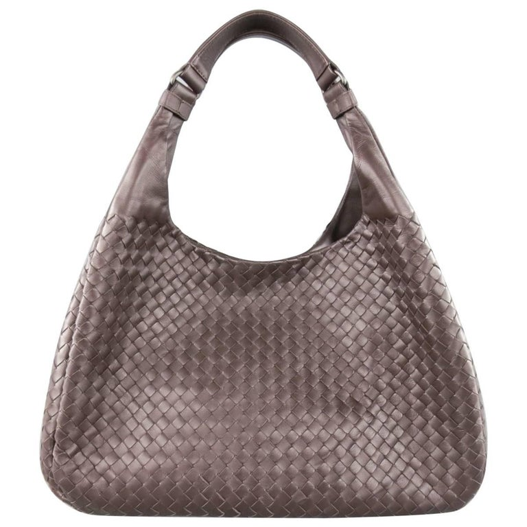 BOTTEGA VENETA Brown Woven Intrecciato Leather Campana Hobo Bag 1