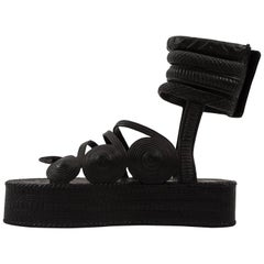 Jean Paul Gaultier Spring-Summer 1985 black rubber platform sandals