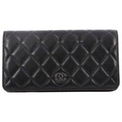 Chanel L-Yen Wallet Quilted Lambskin Long