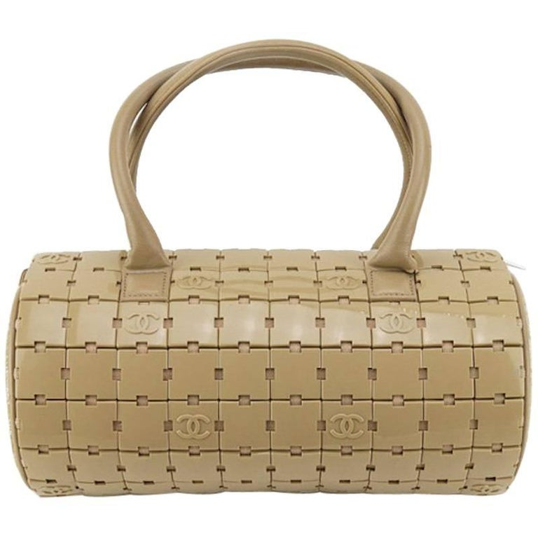 Chanel Taupe Duffle Handbag