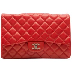 Chanel Red Quilted Shoulder Bag