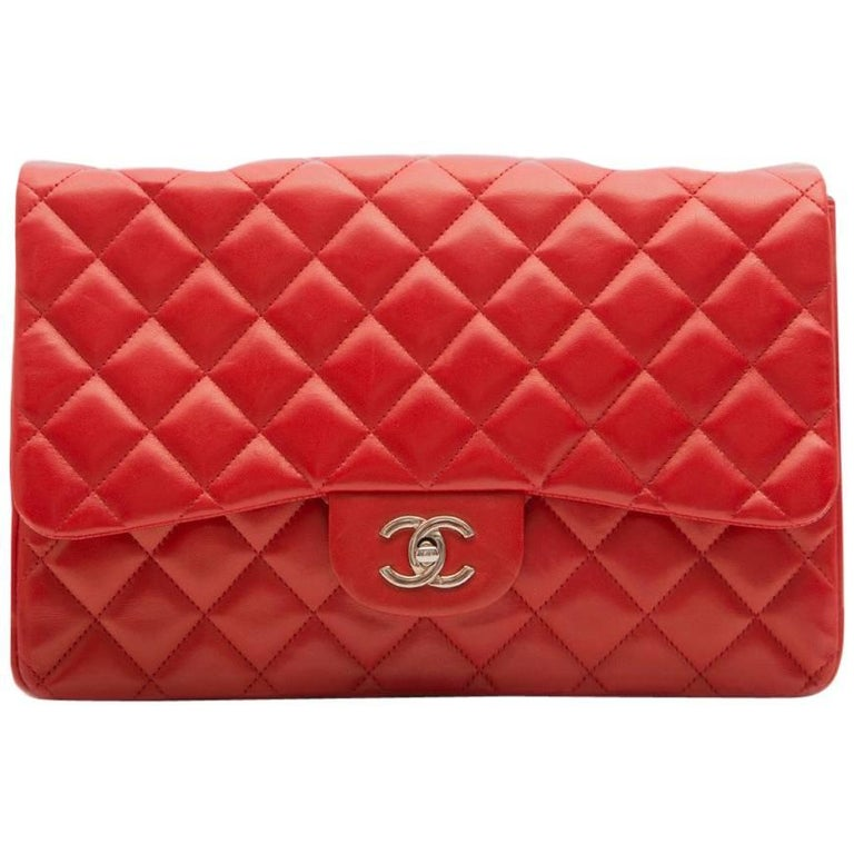 Chanel Red Quilted Shoulder Bag For Sale at 1stdibs : red quilted chanel bag - Adamdwight.com