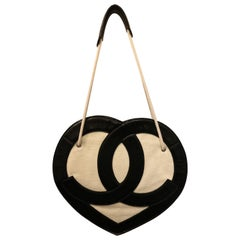 "Chanel Terry ""CC"" Heart Shaped Shoulder Bag"