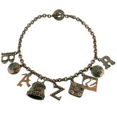 Christian Lacroix Vintage B A Z A R Charm Necklace