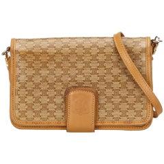 Celine Brown PVC Macadam Shoulder Bag