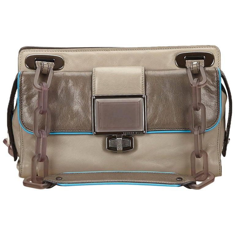 Balenciaga Gray Leather Handbag
