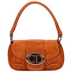 Dior Orange Leather Shoulder Bag