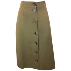 Bergdorf Goodman Button Down A-Line Skirt