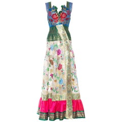 Dress made from Antique Folk and Indian Silks with Metallics