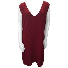 Chloe Red V-Neck Sheath Dress